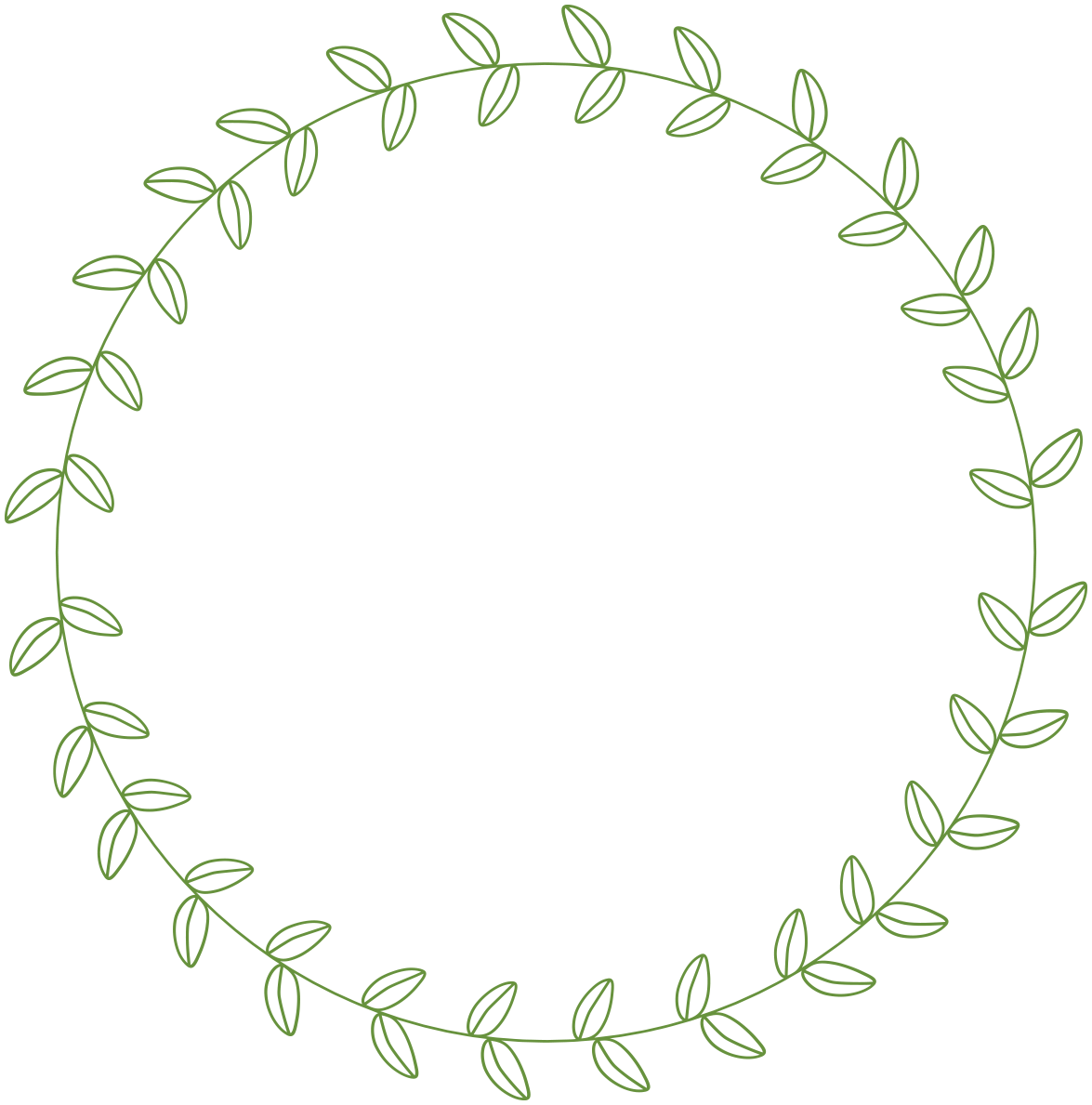 Circle Leaf Border