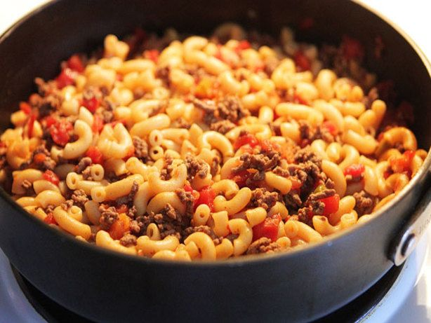 Tomato Hamburger Macaroni Goulash Recipes Homemade Hamburgers Ground Beef Recipes Easy
