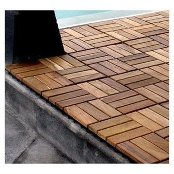 Teak Interlocking Decking Tiles In 2019 Deck Tile Tiles
