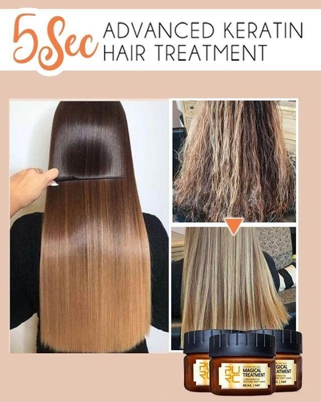 Magical Keratin Treatment to Repair Damaged Hair!