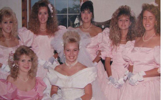 Terrible 80s Bridesmaid Fashions That Should Stay In The Past Bridesmaid Vintage Bridesmaids Beautiful Bridesmaid Dresses