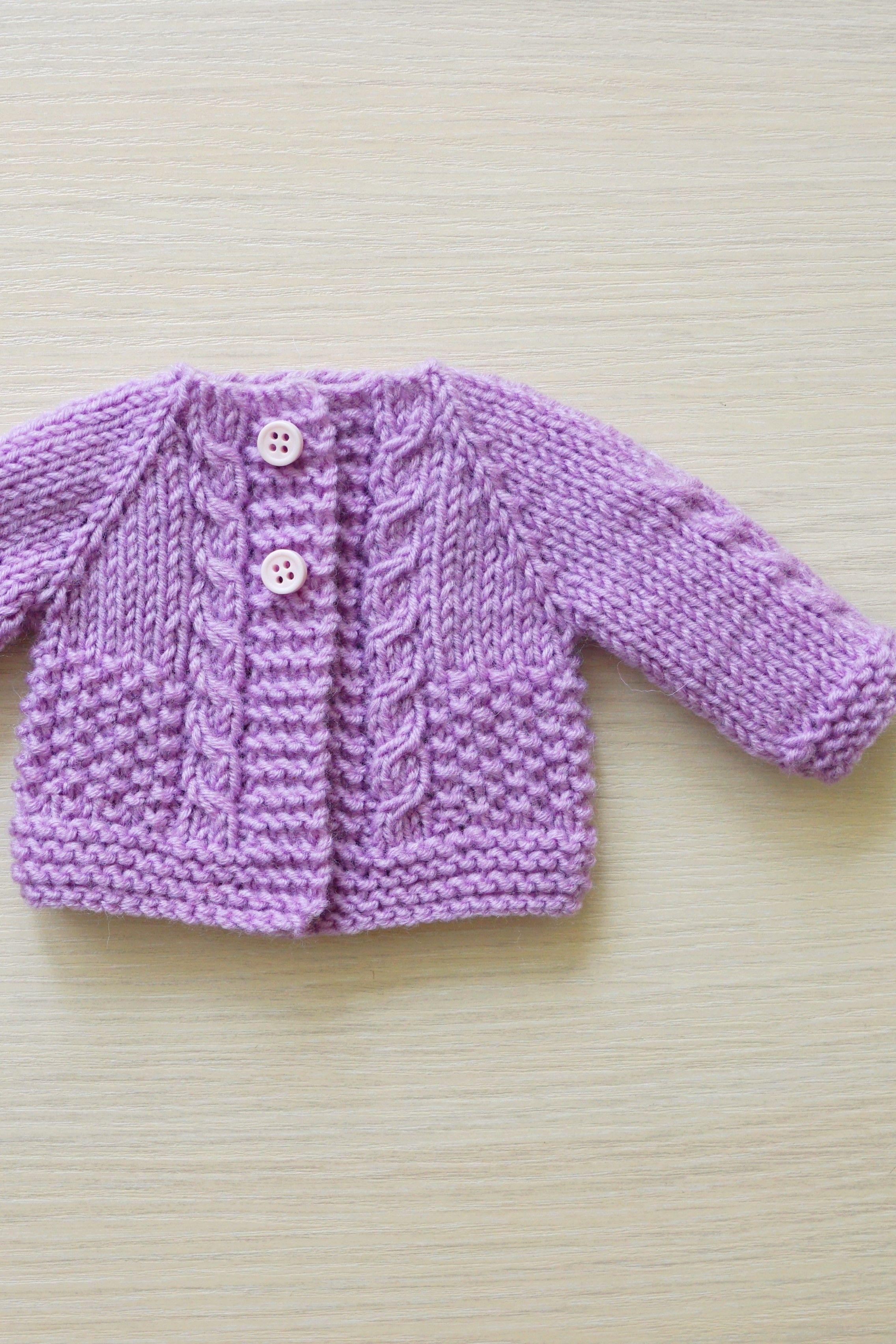 Hand Knit Mauve doll Cardigan, Waldorf style dolls, Waldorf doll clothes, baby doll clothes #dollcare