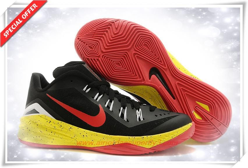 da87b346cfc1 706505-066 Nike Hyperdunk 2014 Low Black  Red  Yellow White