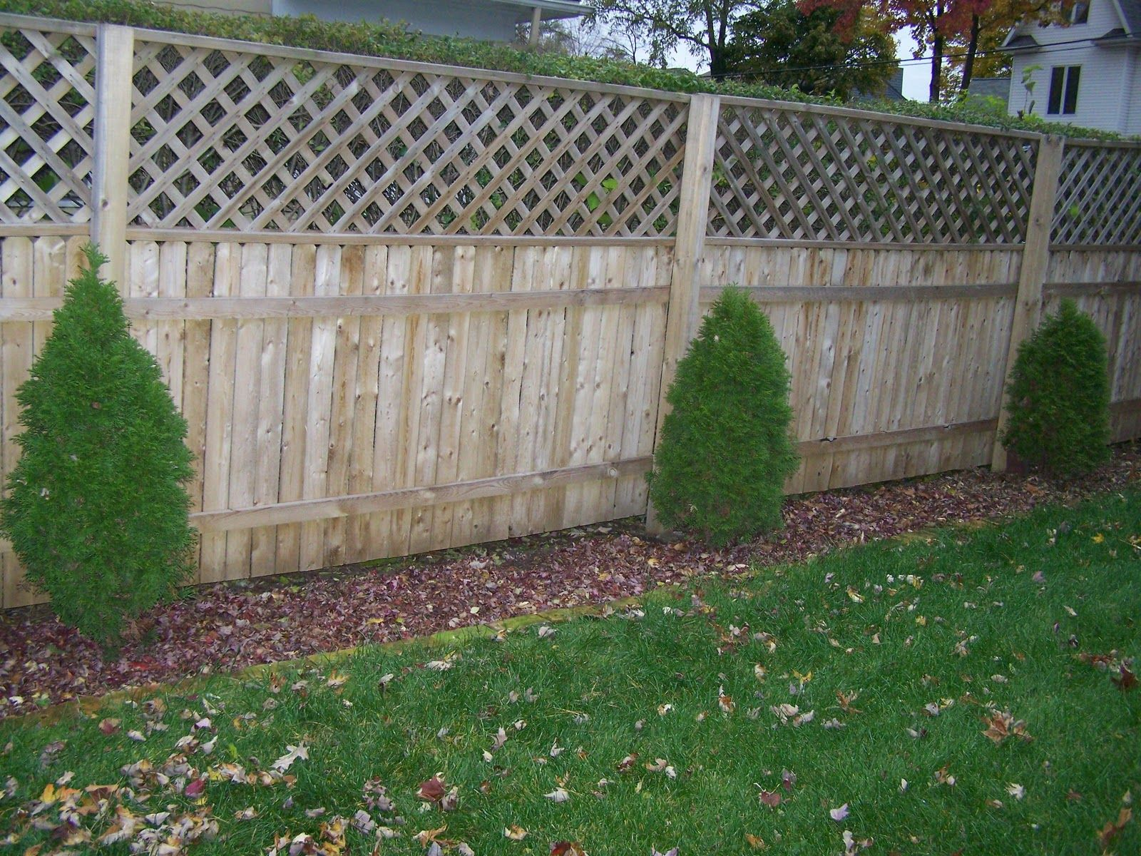 Mulch Fence Line
