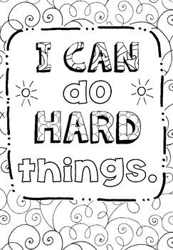 Free Coloring Page Growth Mindset Adult Coloring Growth