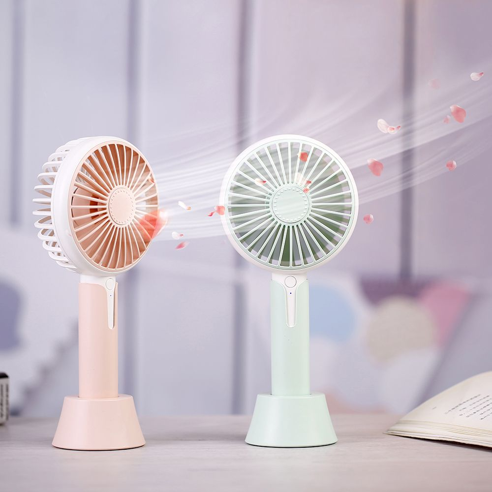 Small Air Conditioning Appliances Independent Portable Handheld Fan Summer Home Small Fan Cute Cartoon Bear Usb Charging Fan Study Table Lamp Fan