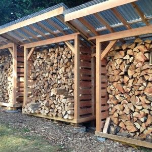 Merveilleux Cool Firewood Storage Outside Plans For Firewood Holder With Corrugated Roof