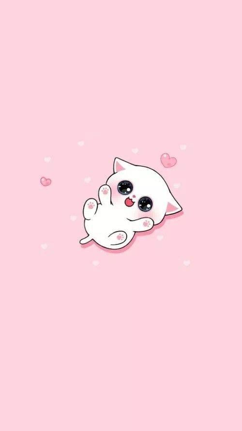 Cute Wallpaper Of Pink In 2020 Cute Wallpapers Kitten Wallpaper Cute Cartoon Wallpapers