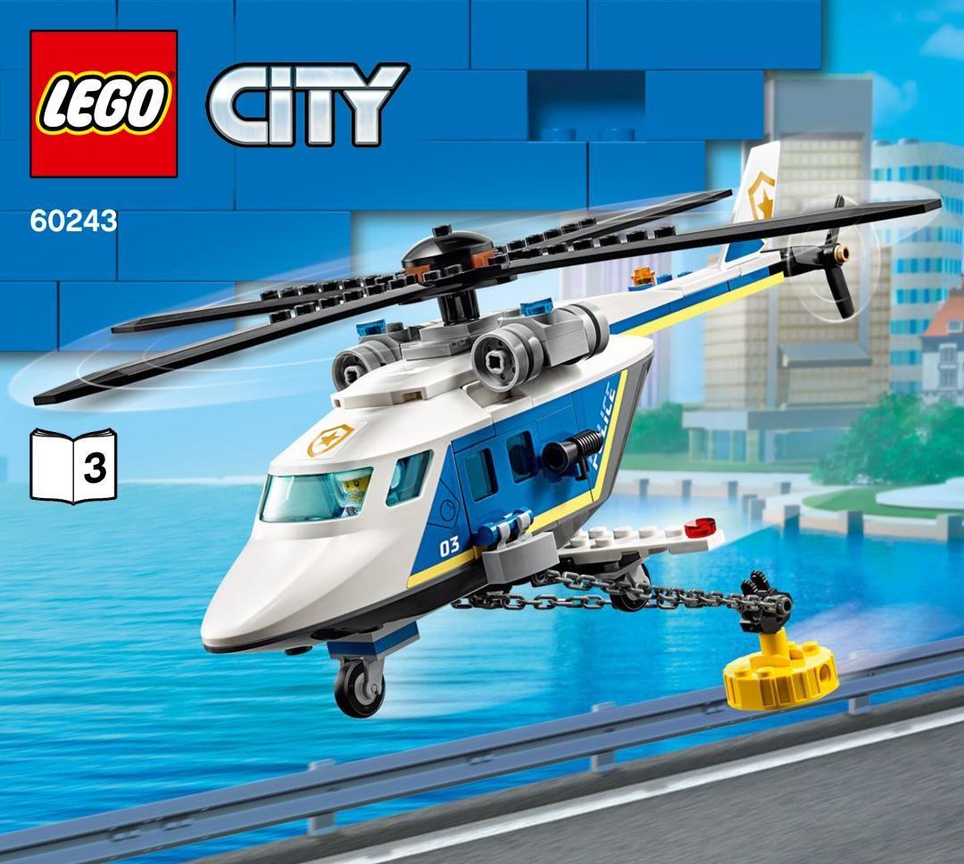 Building Instructions Bauanleitung Lego 60243 Verfolgungsjagd Mit Dem Polizeihubschrauber Buch 3 In 2021 Lego City Lego Instructions Building Instructions