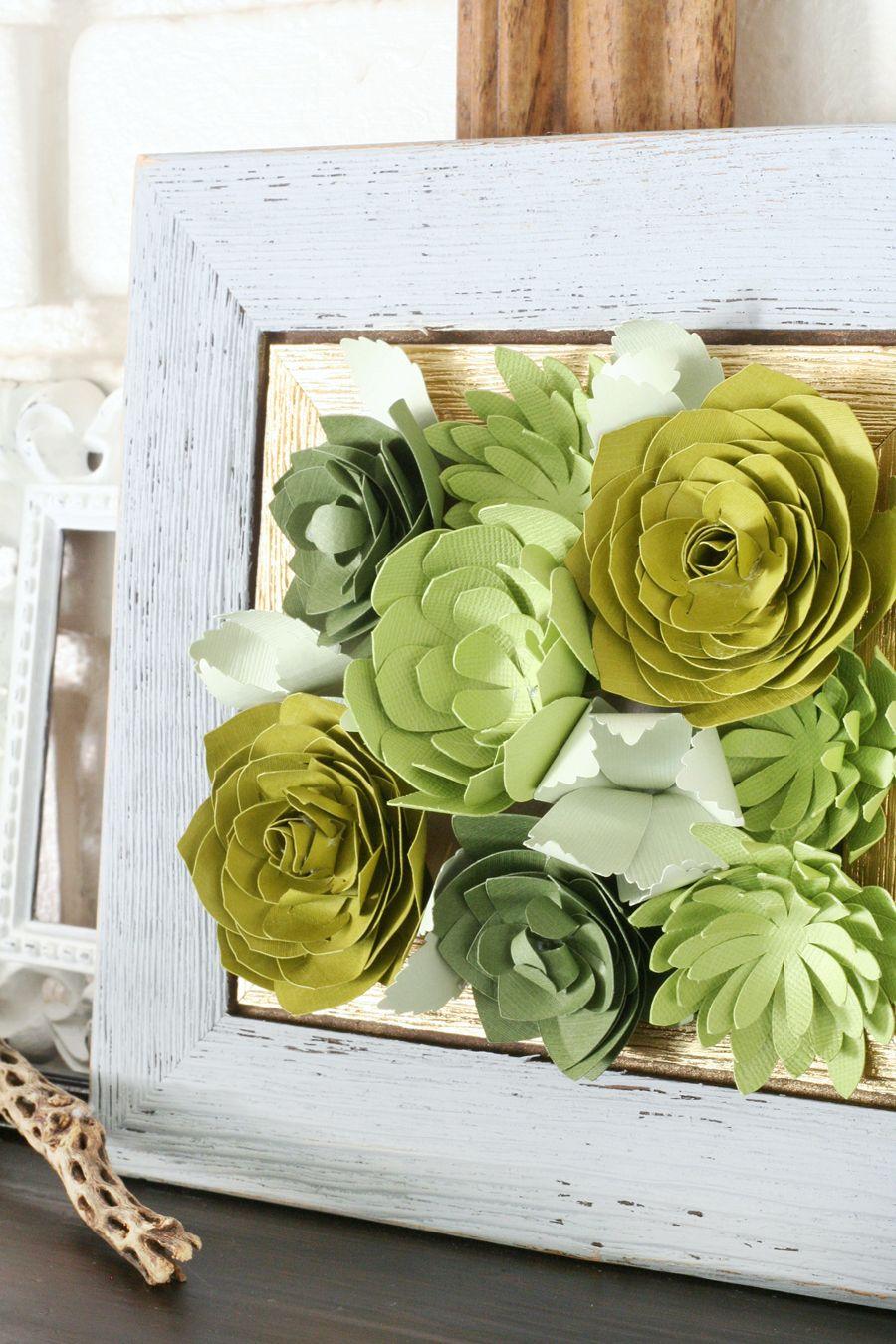 Framed Paper Succulents Paper Crafts Pinterest Paper