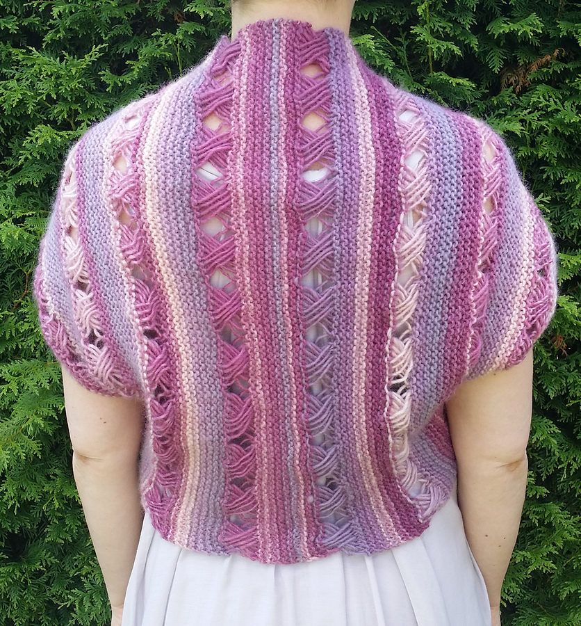 Free Knitting Pattern for Thinking of You Bolero - Knit a rectangle ...