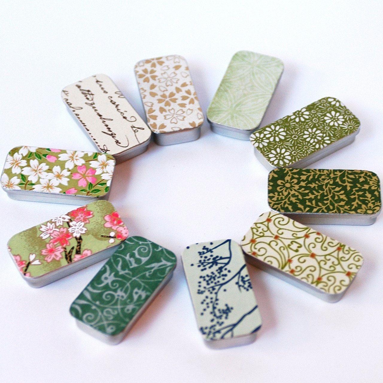 SLIDE TOP TINS 5 Hand Decorated Slide top tins- Custom Wedding Favor ...