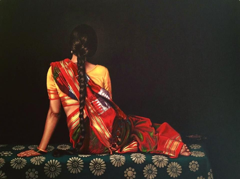 Color pencil on black paper by shashikant dhotre