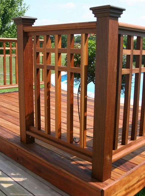 Best Pre Assembled Ipe Handrail Stair Rails 400 x 300