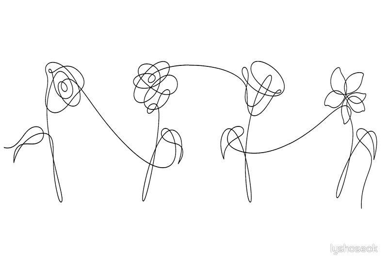 Bts Four Flowers Black Hardcover Journal By Lyshoseok Bts Tattoos Tattoos Love Yourself Tattoo