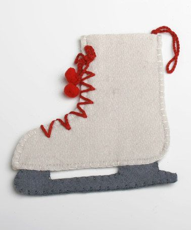 Take a look at this Ice Skate Felt Holder Ornament by Home for the Holidays: Entertaining on #zulily today!