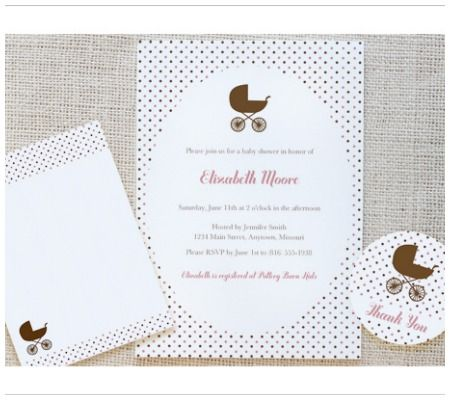 Free Printables invites, flat cards, and round label stickers - free download baby shower invitation templates