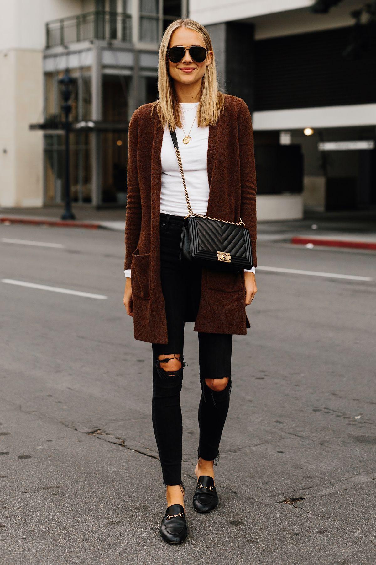 c0ce3e74165 ... Ripped Skinny Jeans Gucci Black Princetown Loafer Mules Chanel Black  Boy Bag Aviatro Sunglasses Fashion Jackson San Diego Fashion Blogger Street  Style