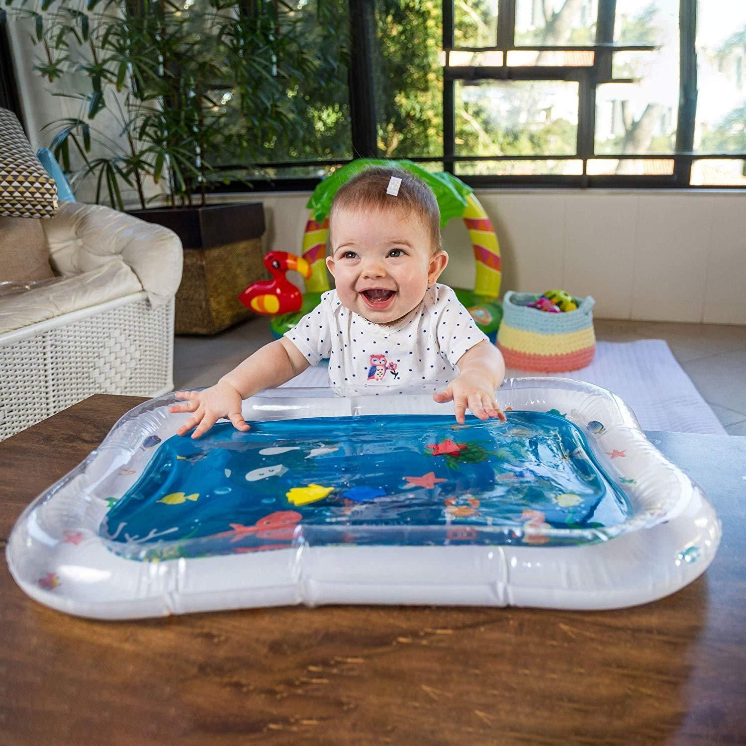 Baby Inflatable Aquarium Water Mat Toy Inspireuplift The Most Stimulating Toy A Baby Can Have Let Your Baby Swim In A Water Mat Cushion Pads Water Play Mat