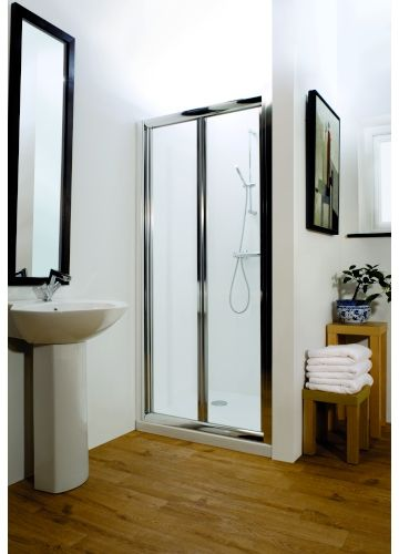 Sienna 800mm Bi Fold Shower Door Ceramica Available At Plumbworld Shower Enclosure Bifold Shower Door Shower Doors