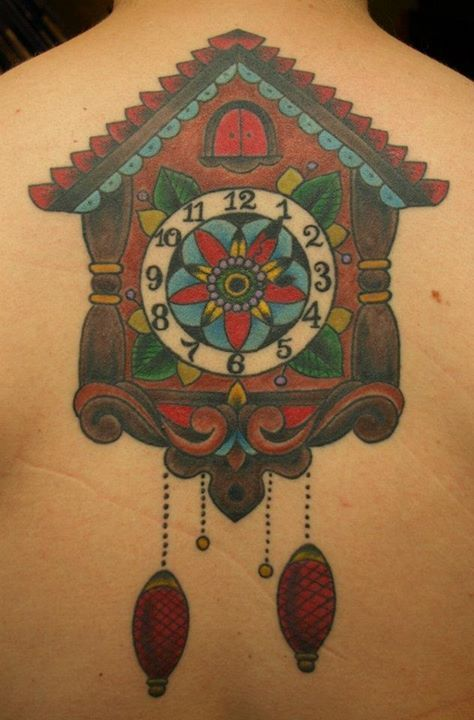 Unusual Cuckoo Clocks cuckoo clock black and white tattoo design - google search