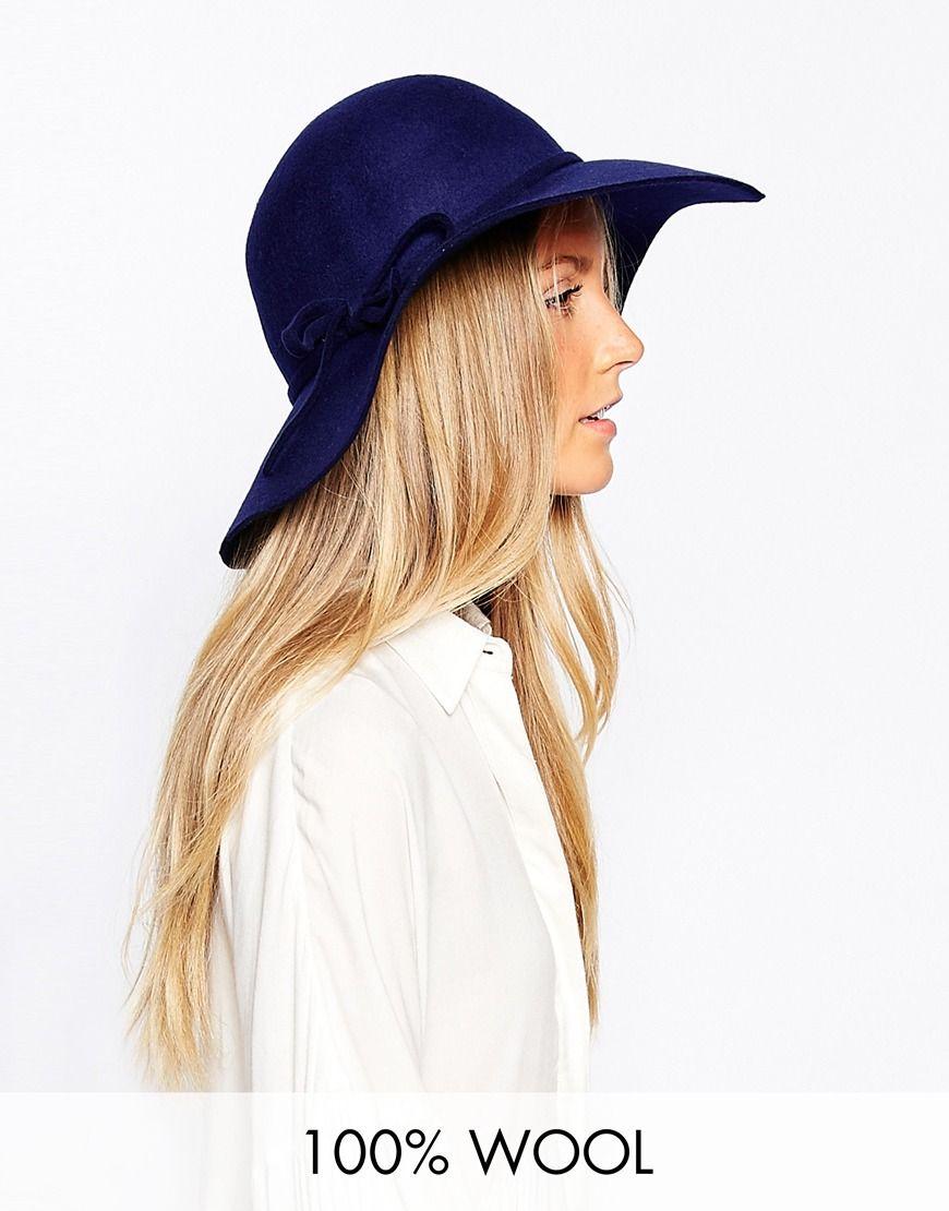Liquorish Wool 70s Floppy Hat