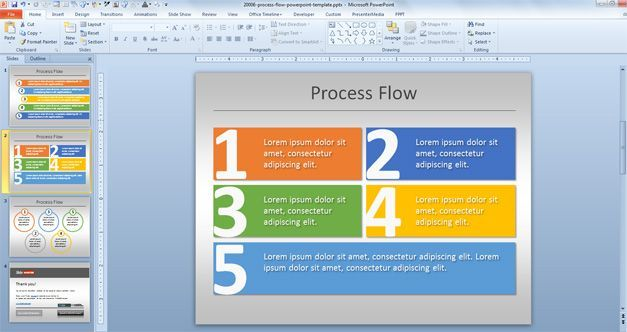simple process flow template for powerpoint places to visit