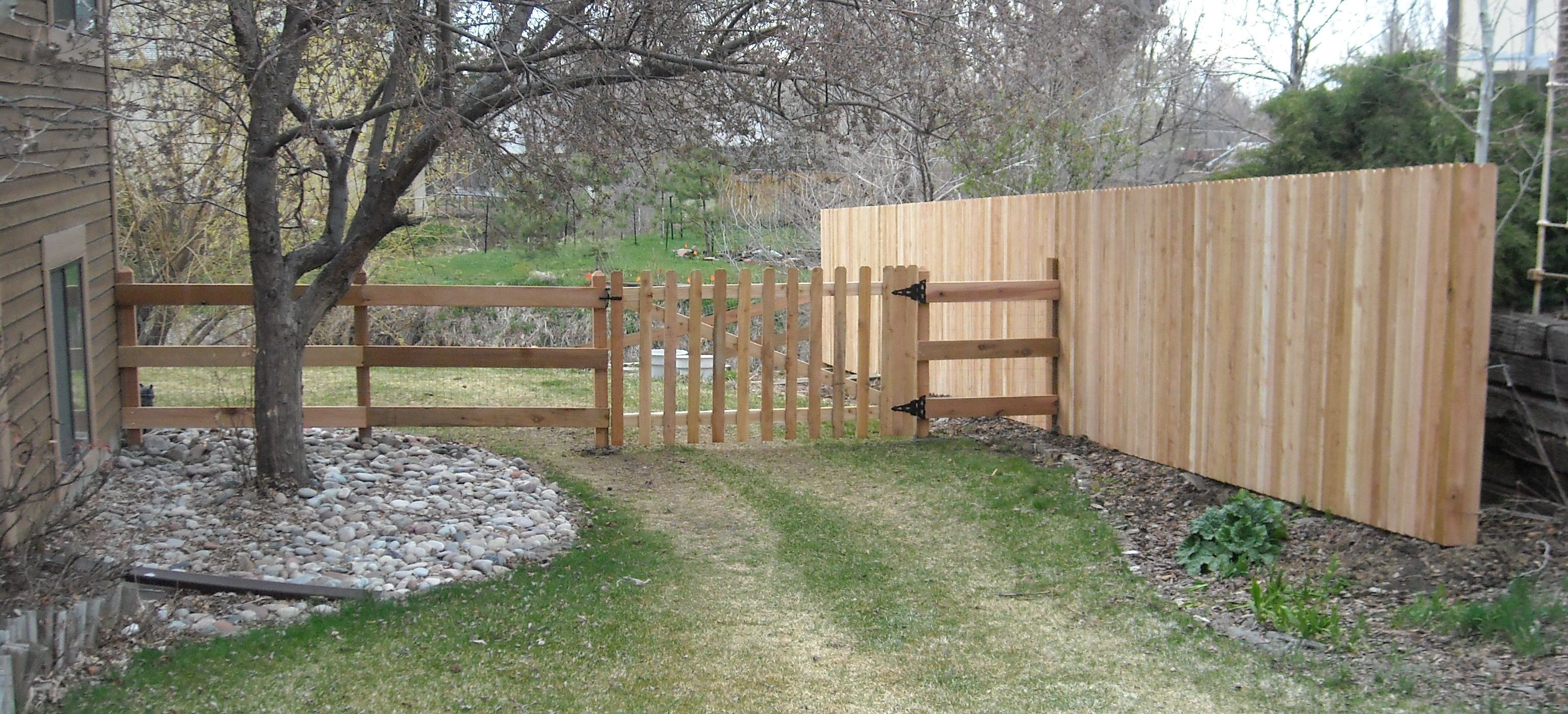 This split rail fence is excellent on a corner lot, with its open ...