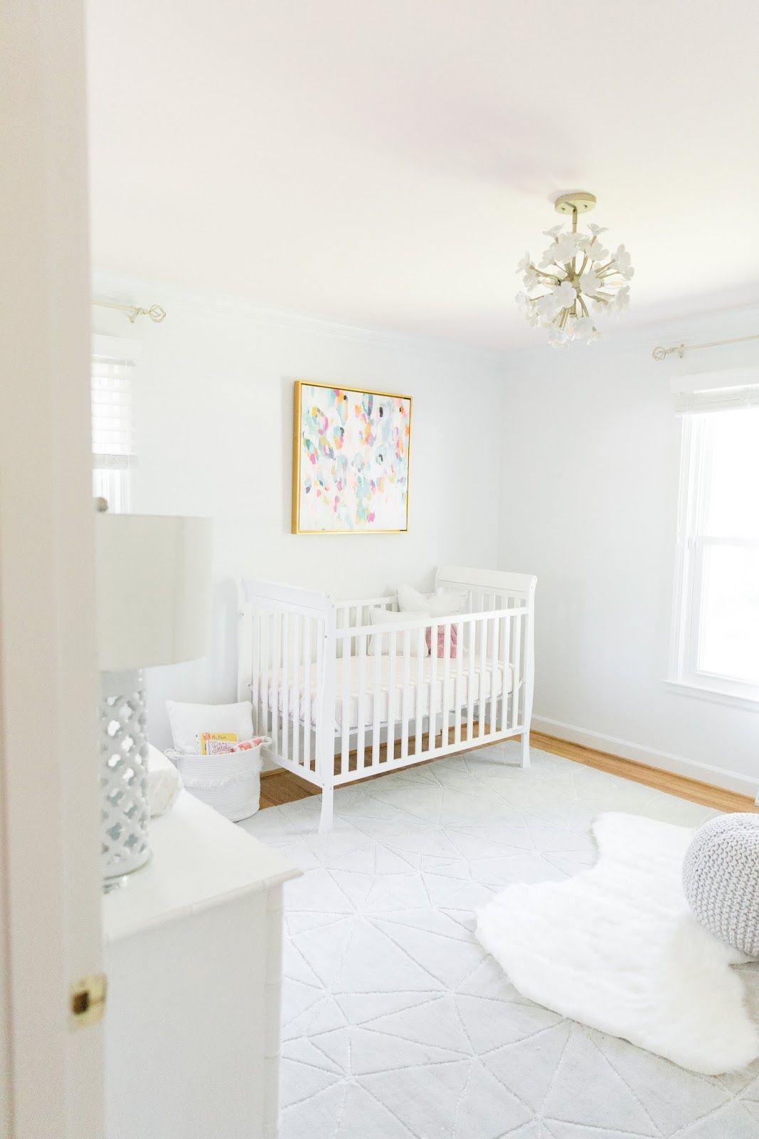Baby Girl\u0027s Nursery Reveal | Ceiling, Nursery and Walls