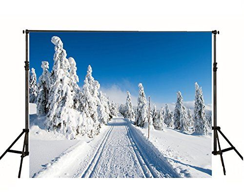 LB Winter Forest Backdrop 7x5ft Heavy Snow on Pine Tree Mountain New Year Photography Background Kids Children Portrait Customized Photo Booth Props