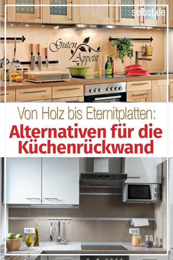 Fliesenspiegel ohne fliesen m bel holz pinterest - Kuche ohne fliesenspiegel ...