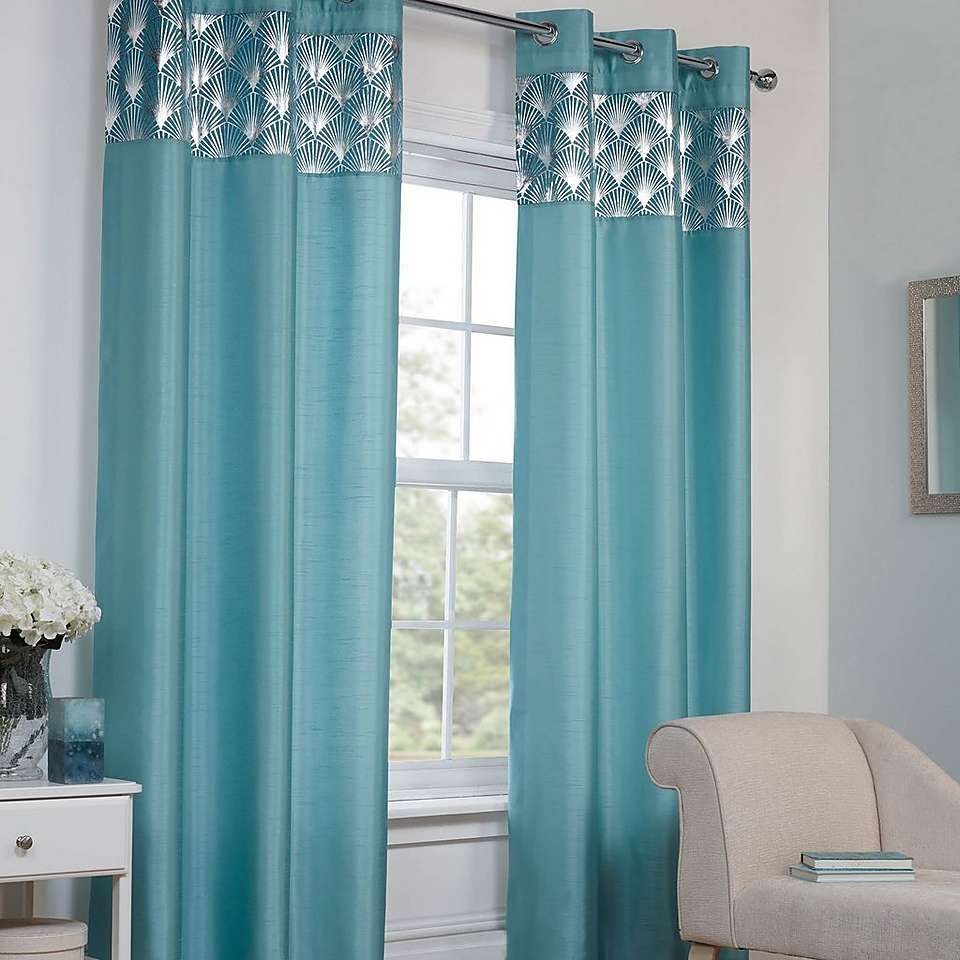 Teal Deco Eyelet Curtains | Dunelm | Bedroom | Pinterest | Teal ...
