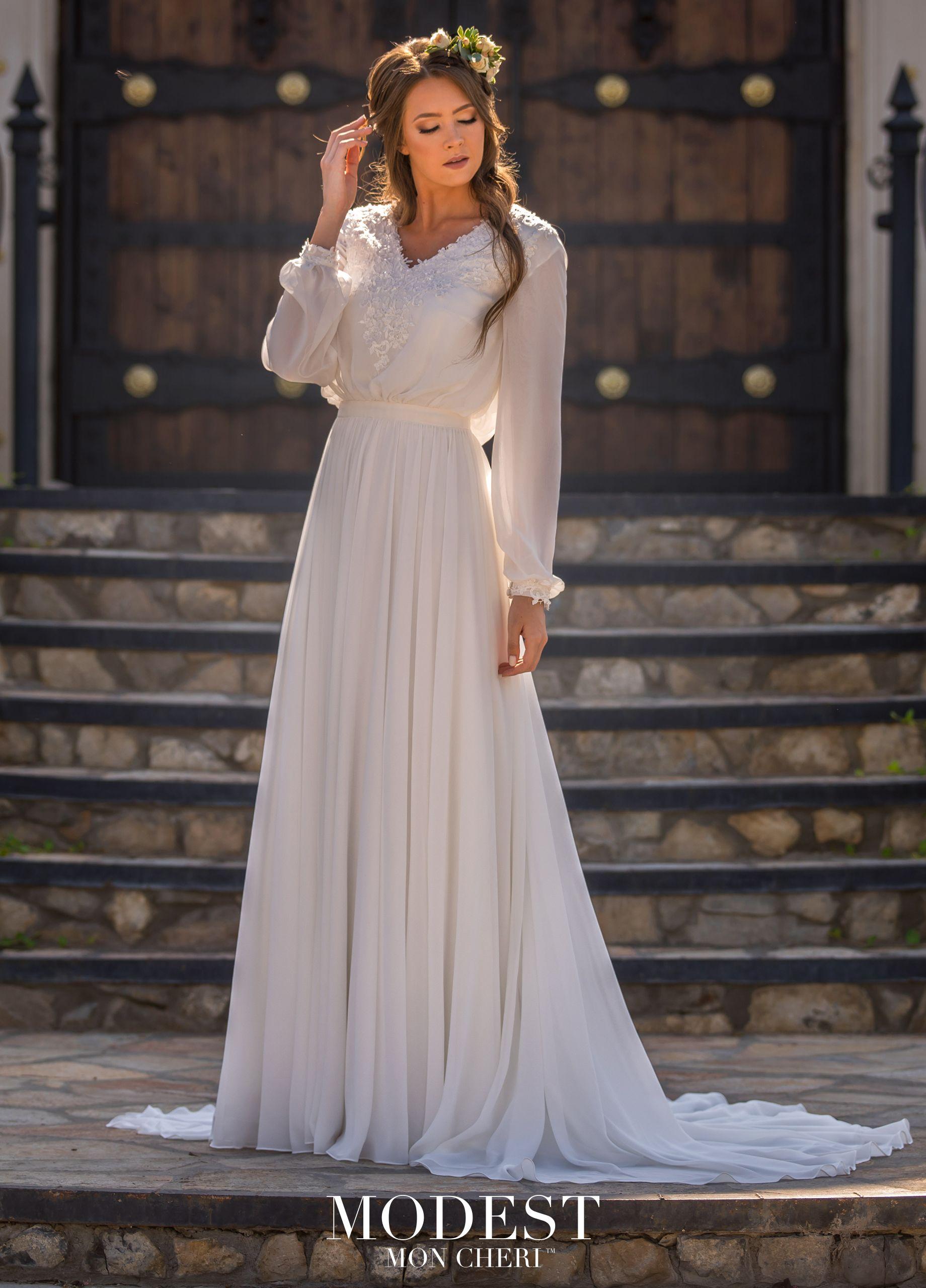 Modest By Mon Cheri Tr11977 Modest Wedding Dresses Modest Bridal Gowns Aline Wedding Dress