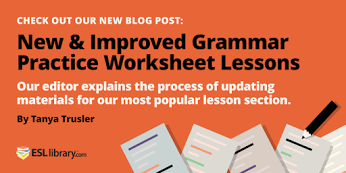 ESL Library - Grammar Practice Worksheets for English learners ...
