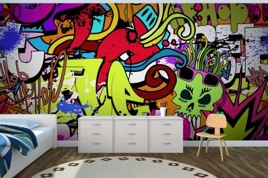 Funky Wall Art Wallpaper Wall Mural MuralsWallpapercouk Walls
