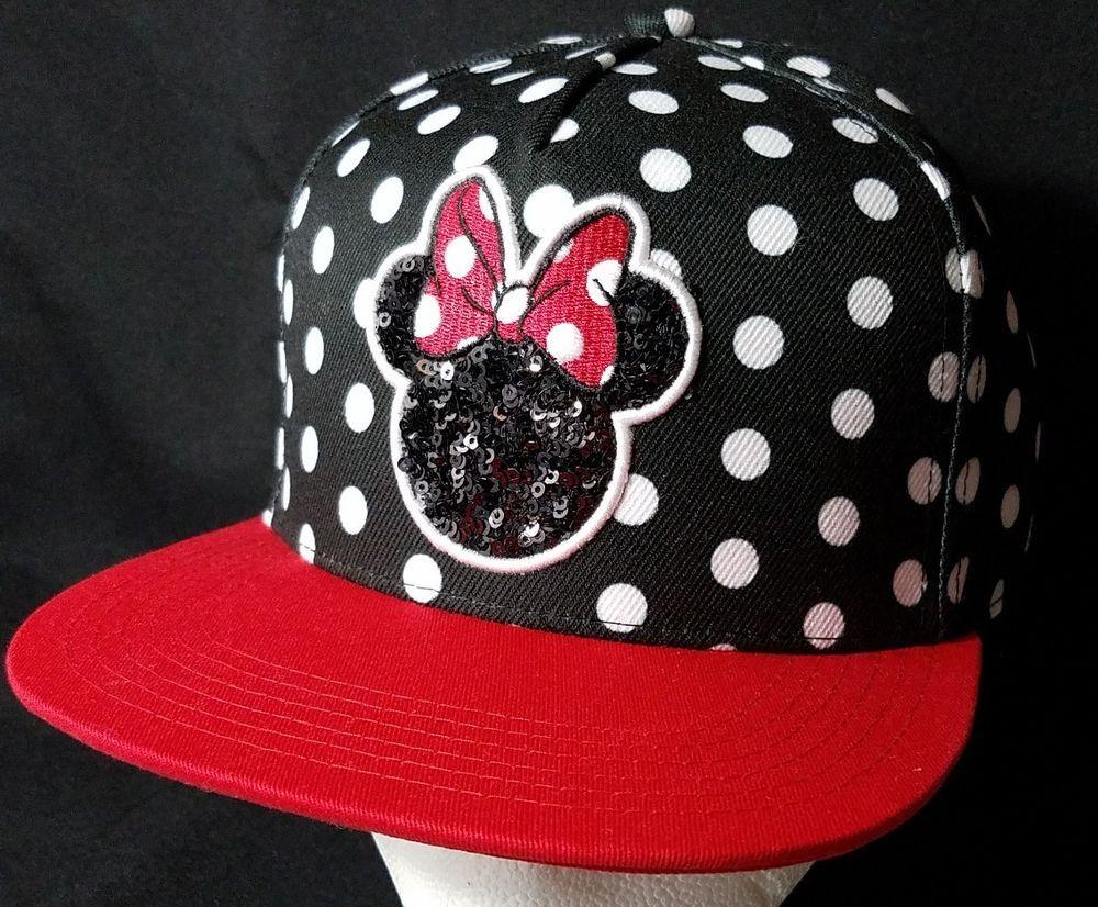 bbbf5310390 Disney Minnie Mouse Baseball Hat Polka Dots Black White Red Women s Wedding   Disney