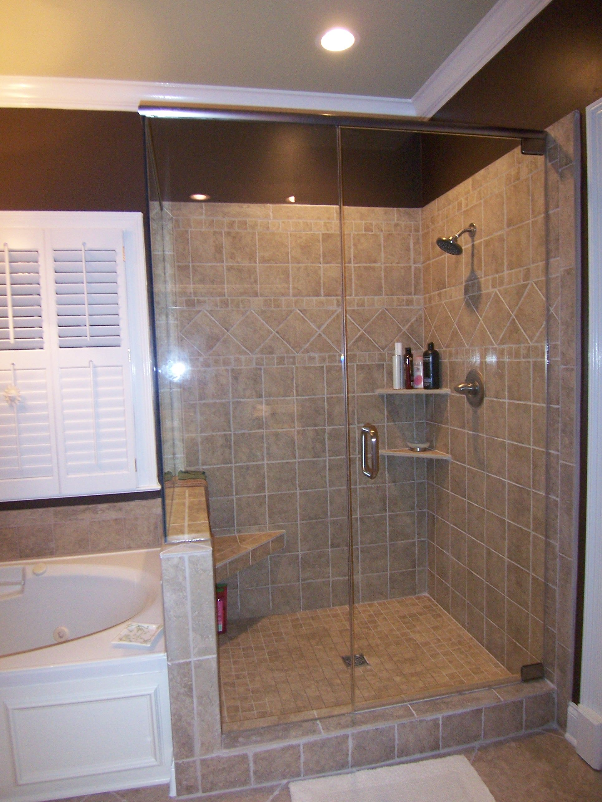Bathroom Remodel Gutted Fiberglass Shower Unit Designed