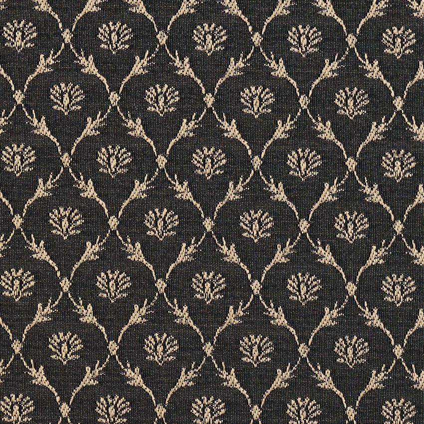 Onyx Beige And Black Cameo Floral Trellis Dimond Pattern Damask