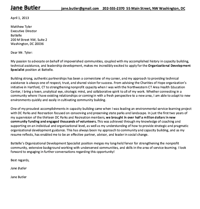 Building Technician Cover Letter Cover Letter For Resume Cover Letter Example Writing A Cover Letter