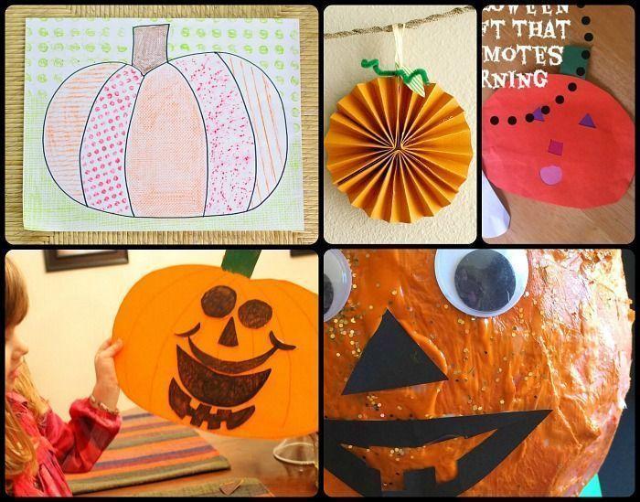 15 Paper Pumpkin Crafts for Preschoolers #pumpkincraftspreschool Paper pumpkin c…