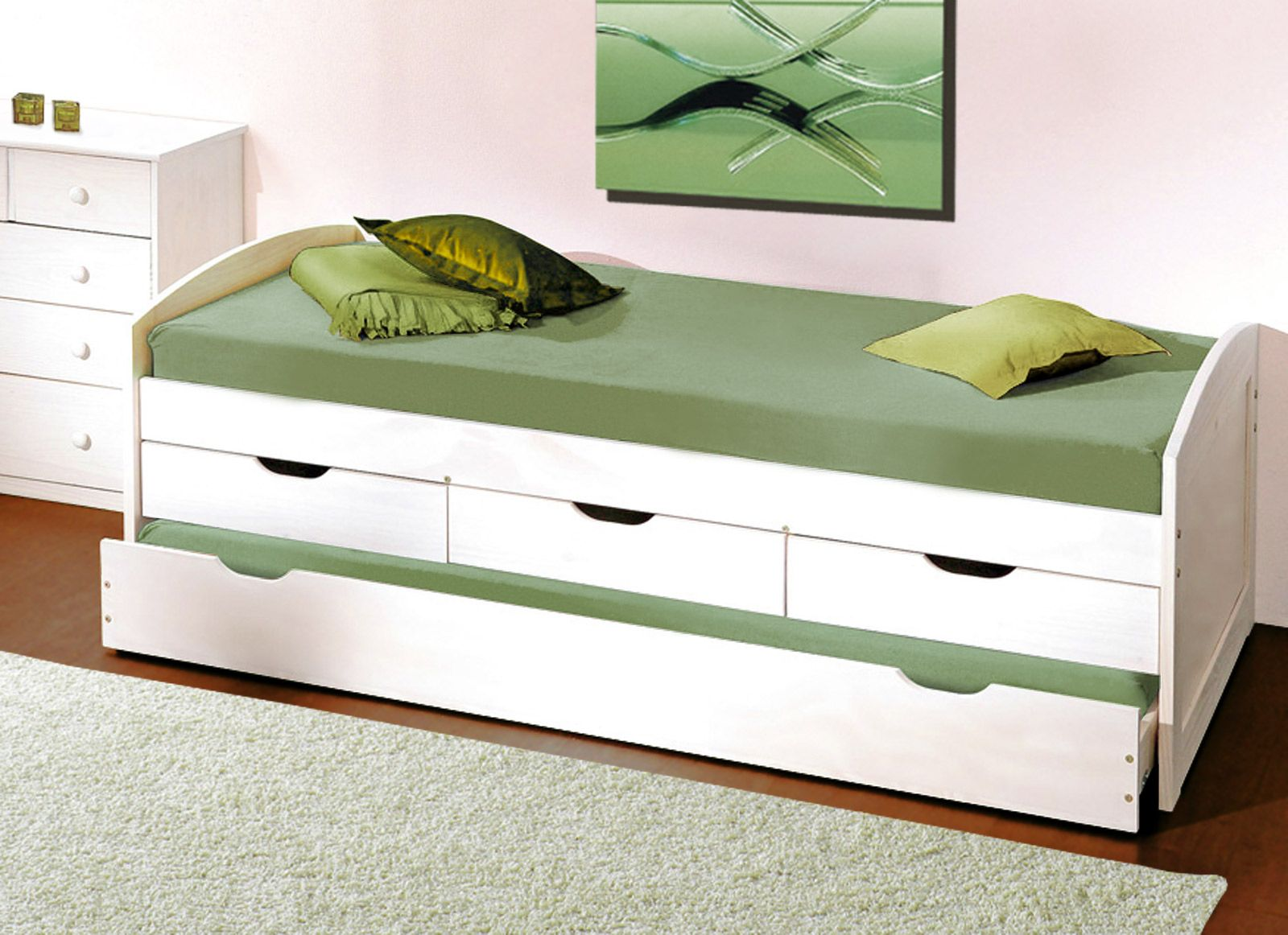 Einzelbett mit bettkasten ikea  Die besten 25+ Bett mit unterbett Ideen auf Pinterest | IKEA Malm ...