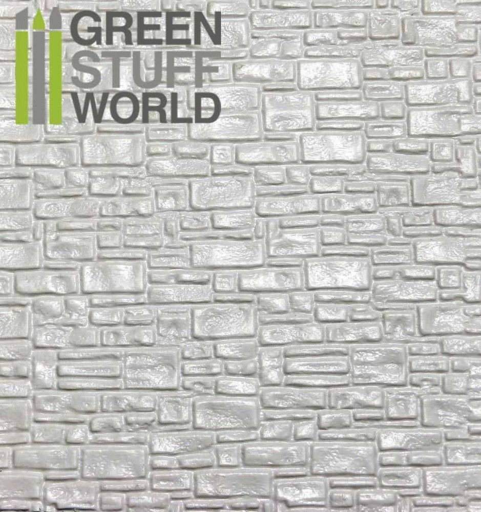 Abs Embossed White Plasticard Smooth Rock Wall Styrene Plastic Sheets Hips 8436554361083 Ebay Rock Wall Plastic Sheet For Wall Plastic Sheets