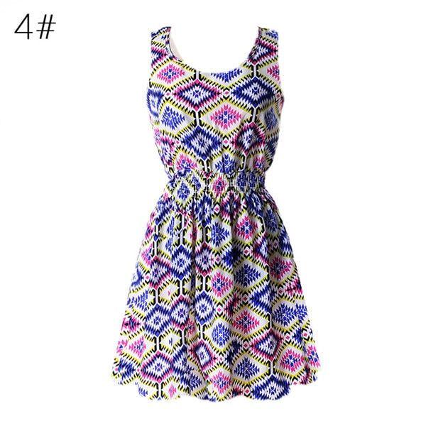 Casual summer chiffon dress women clothes floral short beach dresses vestido de festa verano robe femme #shortsundress