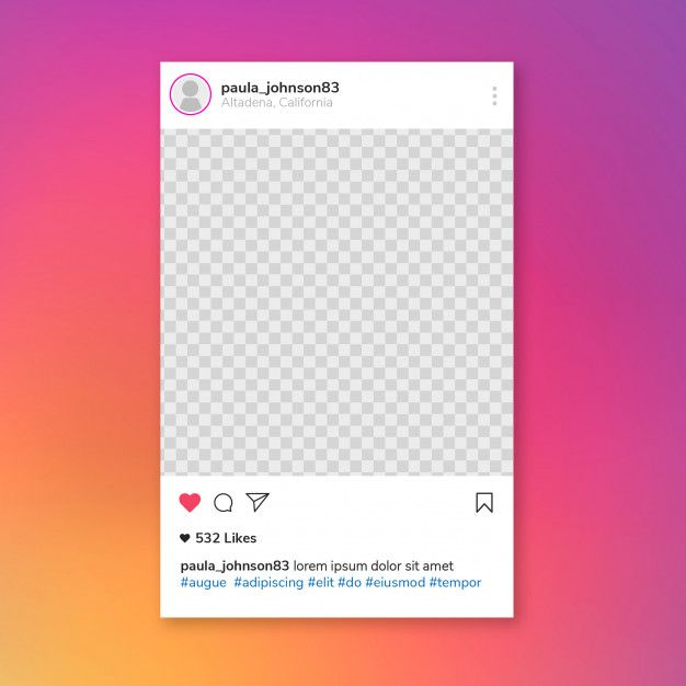 Download Instagram Post Template For Free Instagram Post Template Instagram Frame Instagram Frame Template