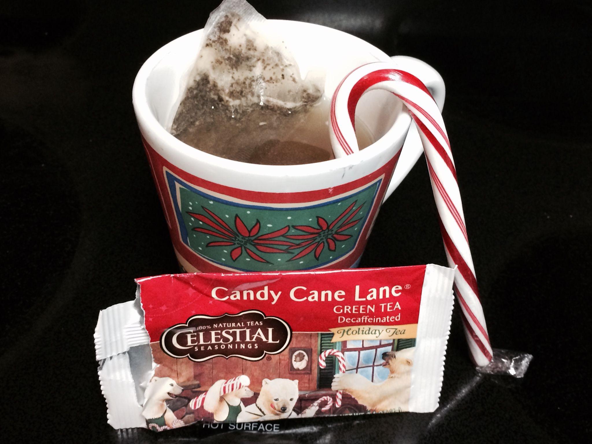Warm Cup of Candy Cane Lane Green Tea CelestialTea