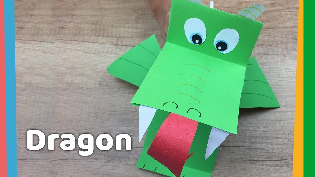 Paper Dragon Diy With Breathing Fire Simple And Funny Crafts To Do