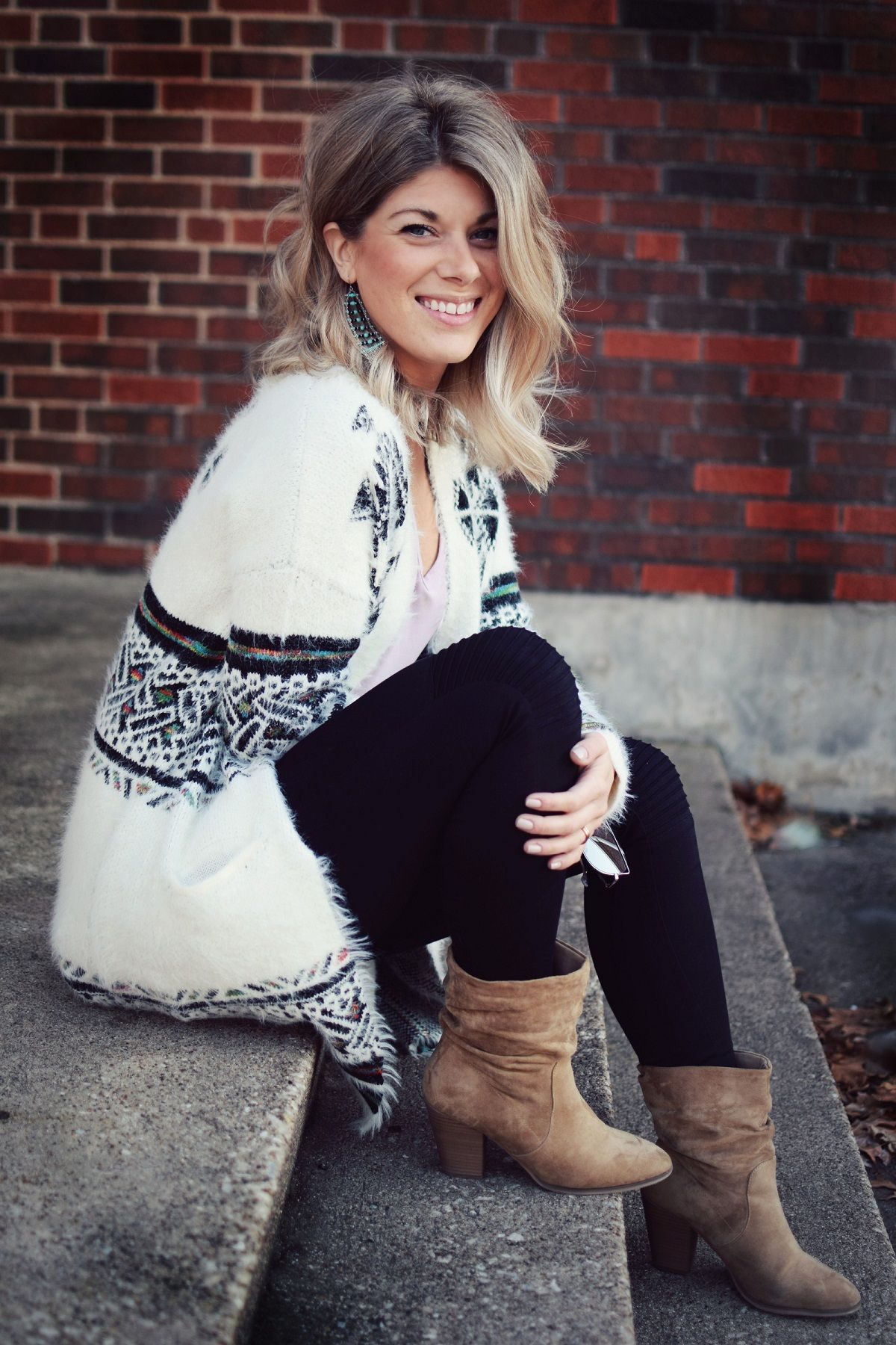 boho chic casual winter style