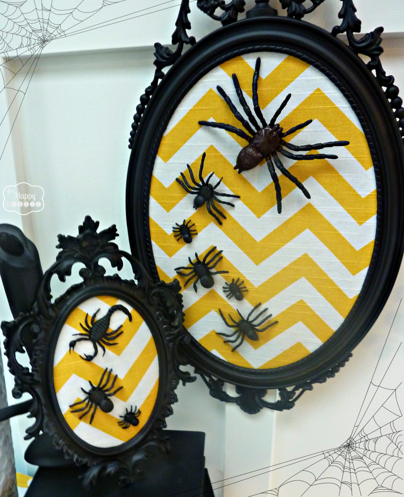 DIY Chevron Spider Art {PLUS a Halloween Project Parade and Blog Hop ...
