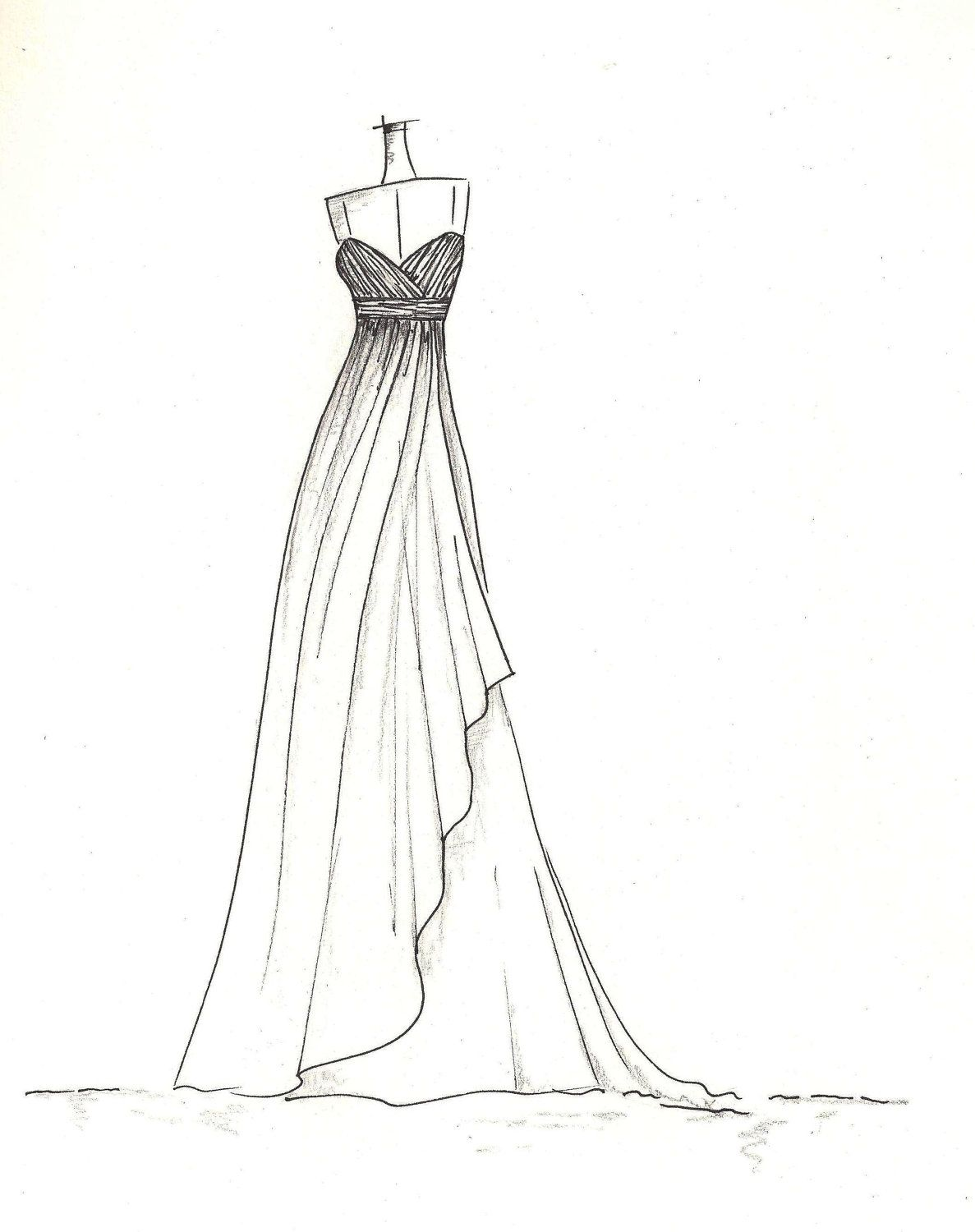Vera Sketches Of Kim Kardashian S Wedding Gown Description From Pinterest I