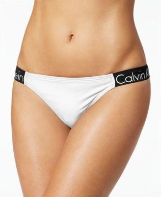 CALVIN KLEIN Calvin Klein Logo Cheeky Bikini Bottoms.  calvinklein  cloth    swimwear 6f84131d5